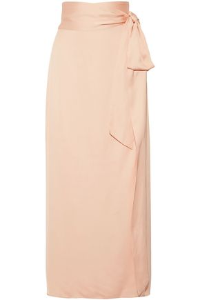 ELIZABETH AND JAMES Crepe wrap maxi skirt