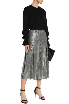 factory outlets modern style quality first Pleated sequined tulle midi skirt | MAJE | Sale up to 70 ...