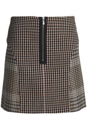 MAJE Prince of Wales cotton-blend mini skirt