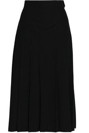 VALENTINO Pleated wool midi skirt