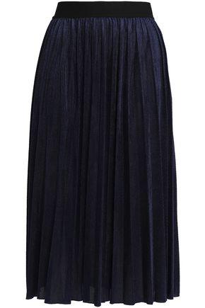 MAJE Pleated corduroy skirt