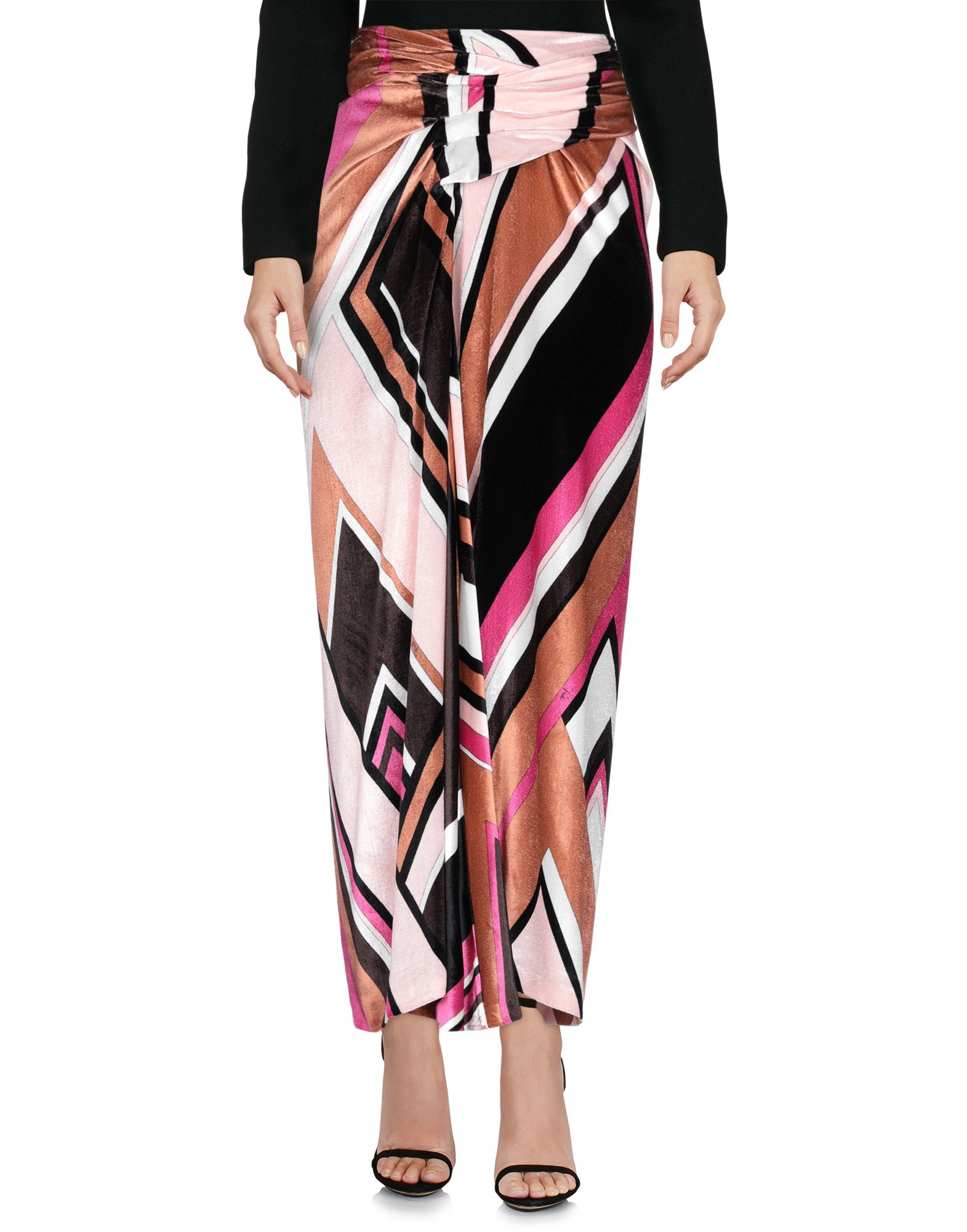 Emilio Pucci Maxi Skirts In Light Pink Modesens