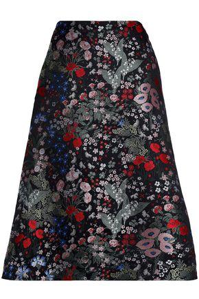 VALENTINO Floral-jacquard skirt