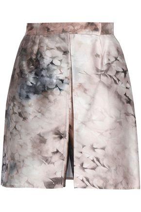 VALENTINO Printed wool and silk-blend shorts