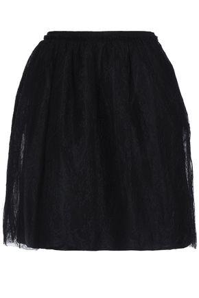 VALENTINO Silk lace mini skirt