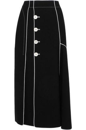DEREK LAM Button-detailed crepe midi skirt