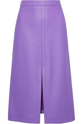 DEREK LAM Split-front leather skirt