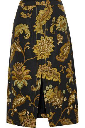 DEREK LAM Split-front jacquard skirt