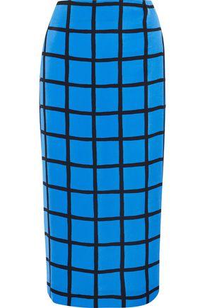DIANE VON FURSTENBERG Printed jersey midi pencil skirt