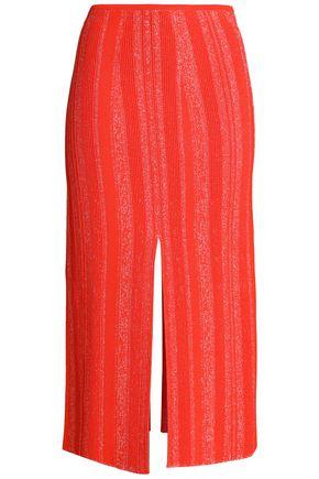 PROENZA SCHOULER Marled knitted midi skirt
