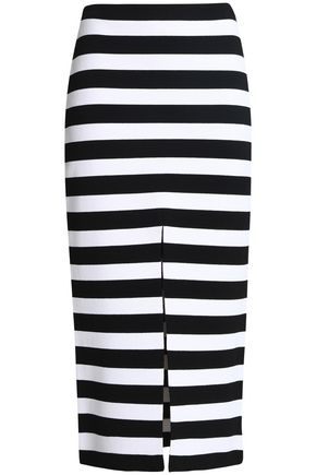 PROENZA SCHOULER Striped stretch-knit midi skirt