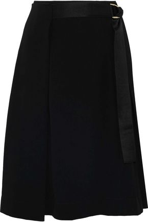 DIANE VON FURSTENBERG Pleated crepe wrap skirt