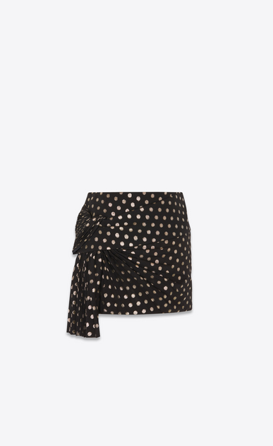 SAINT LAURENT Short Skirts Woman silk pleated knotted skirt a_V4