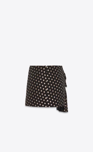 SAINT LAURENT Short Skirts Woman silk pleated knotted skirt b_V4