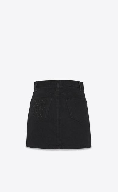 SAINT LAURENT Short Skirts Woman studded pocket denim skirt b_V4