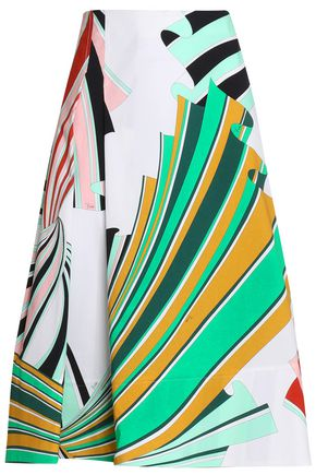 EMILIO PUCCI Printed stretch-cotton skirt