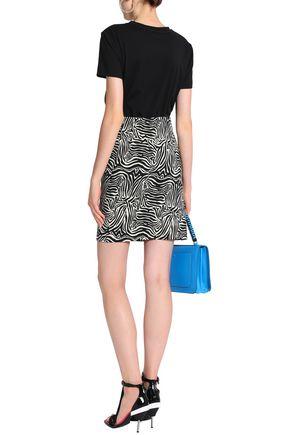 EMILIO PUCCI Cotton-blend zebra-jacquard mini skirt
