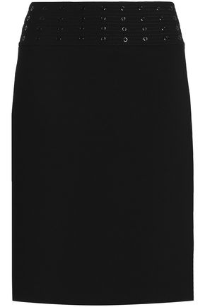 EMILIO PUCCI Embellished stretch-wool crepe skirt