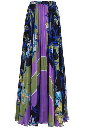 EMILIO PUCCI Printed silk-chiffon maxi skirt