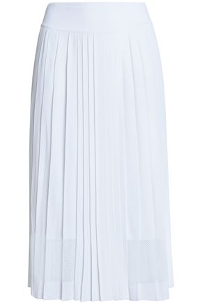 EMILIO PUCCI Pleated stretch-knit midi skirt
