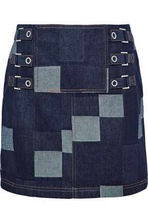 OPENING CEREMONY Patchwork denim mini skirt