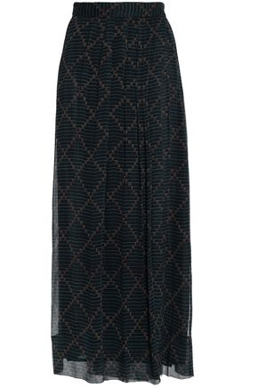 ISABEL MARANT ÉTOILE Printed silk-georgette maxi wrap skirt