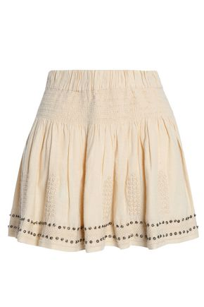 ISABEL MARANT ÉTOILE Embellished embroidered cotton-blend gauze mini skirt