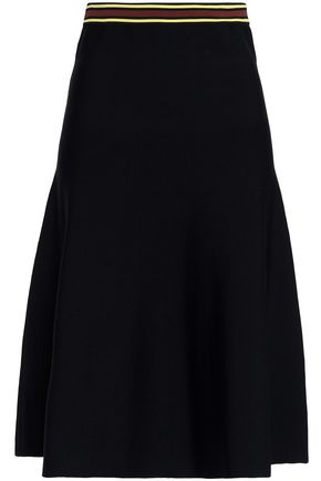 SANDRO Britt flared stretch-knit skirt