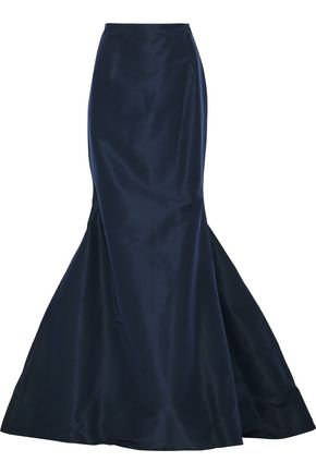 CAROLINA HERRERA Fluted silk-faille maxi skirt