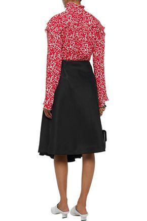 SIMONE ROCHA Pleated neoprene skirt