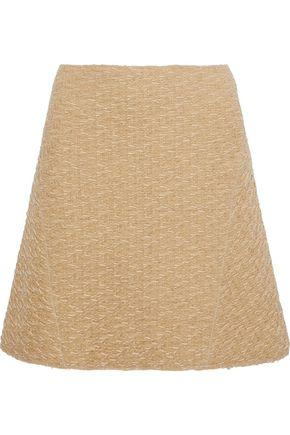 NINA RICCI Flared wool-blend cloqué skirt