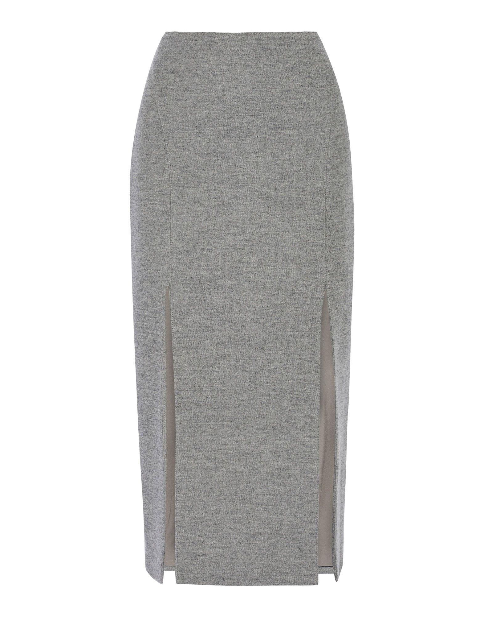 WES GORDON Midi Skirts in Grey