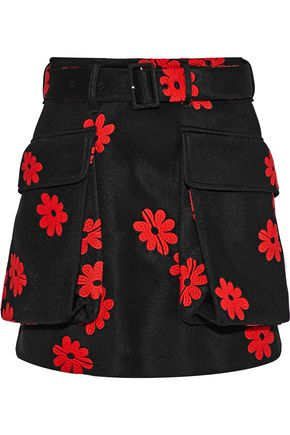SIMONE ROCHA Embroidered neoprene mini skirt