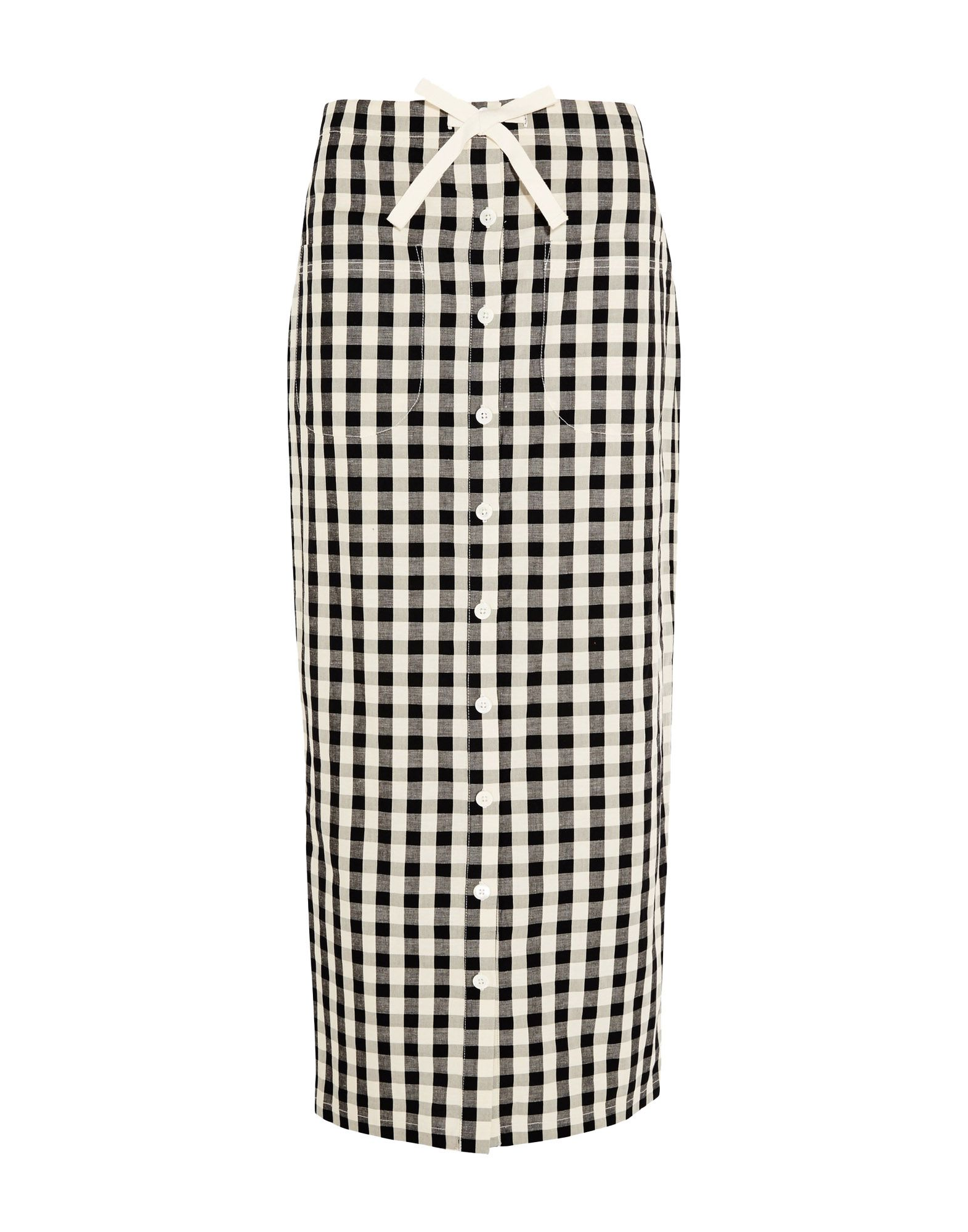 SOLID & STRIPED Длинная юбка striped longline tshirt