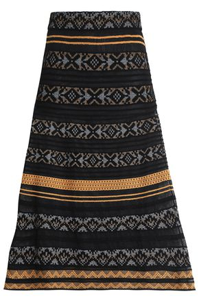 M MISSONI Flared jacquard-knit skirt