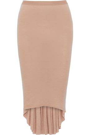 RICK OWENS Pleated jersey skirt