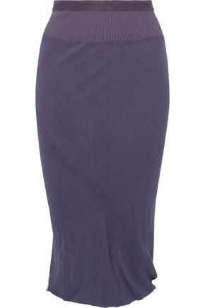 RICK OWENS Cotton-blend crepe skirt