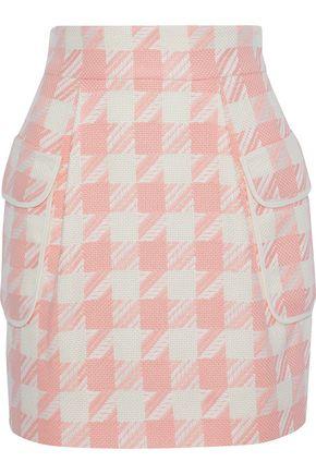 PIERRE BALMAIN Houndstooth woven mini skirt