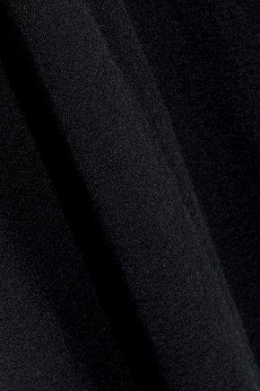 RICK OWENS Asymmetric cashmere-blend maxi skirt