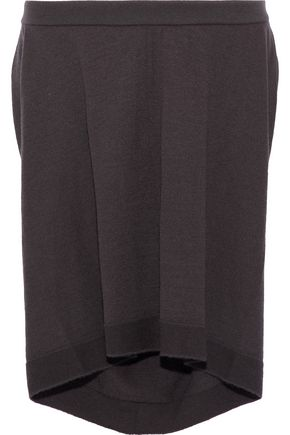 RICK OWENS Draped cashmere-blend skirt