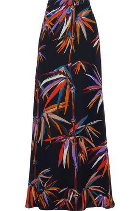 EMILIO PUCCI Printed silk crepe de chine maxi skirt