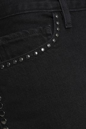 FRAME Studded denim mini skirt