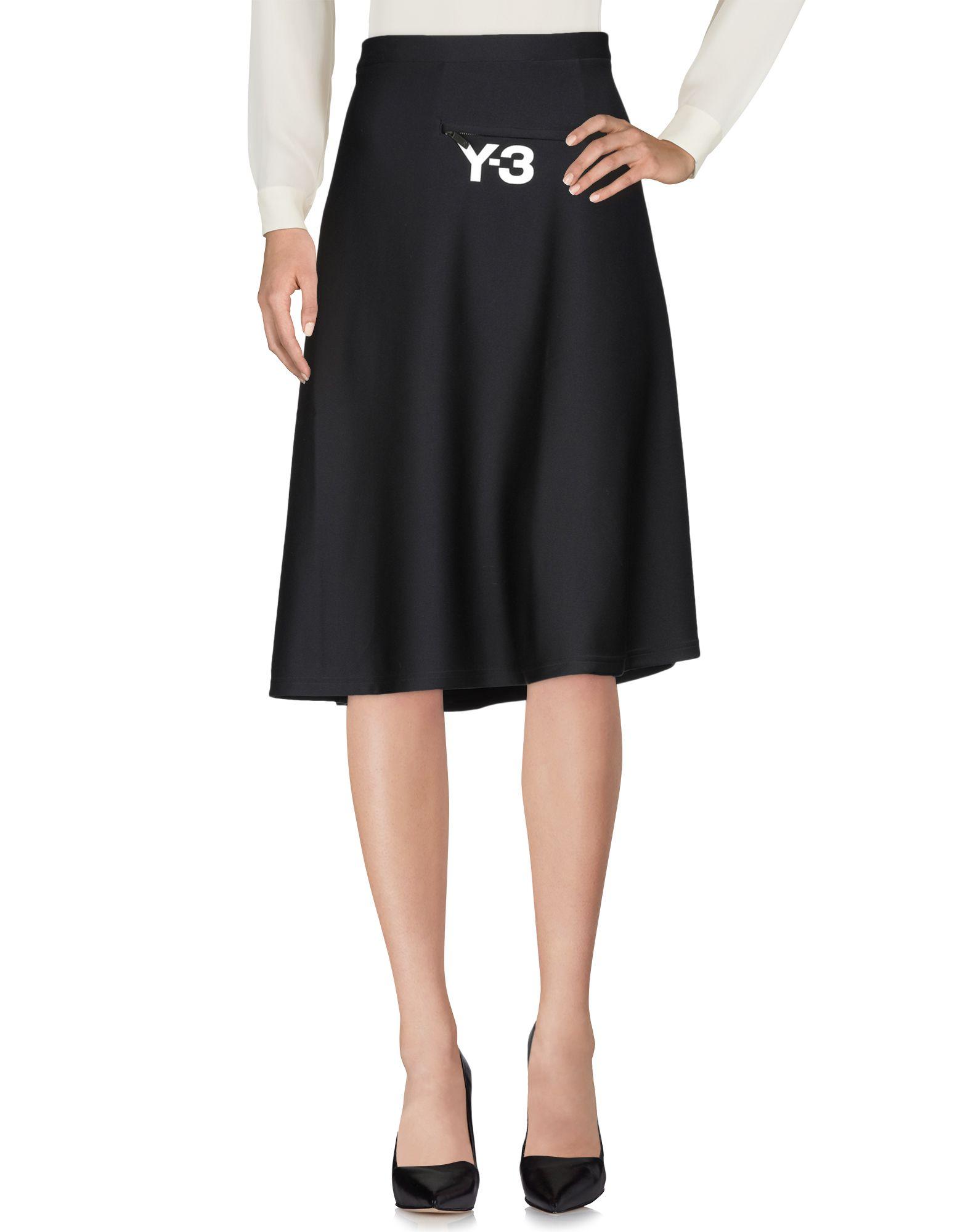 Y-3 Юбка длиной 3/4 zimmermann юбка длиной 3 4