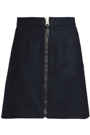 ACNE STUDIOS Wool-blend mélange mini skirt