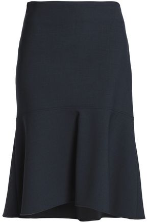 BRUNELLO CUCINELLI Fluted wool-blend skirt