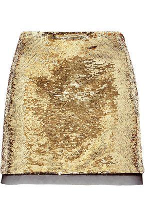 RACHEL ZOE Finn sequined chiffon mini skirt