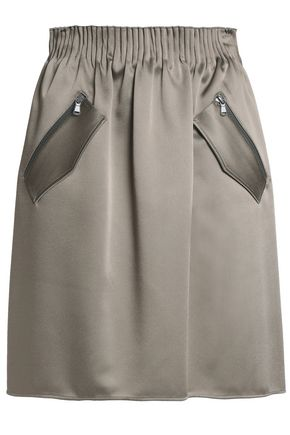 BRUNELLO CUCINELLI Gathered satin skirt