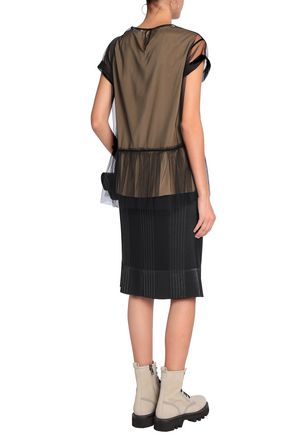 BRUNELLO CUCINELLI Pleated stretch-knit skirt