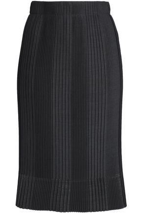 BRUNELLO CUCINELLI Pleated stretch-knit skirt