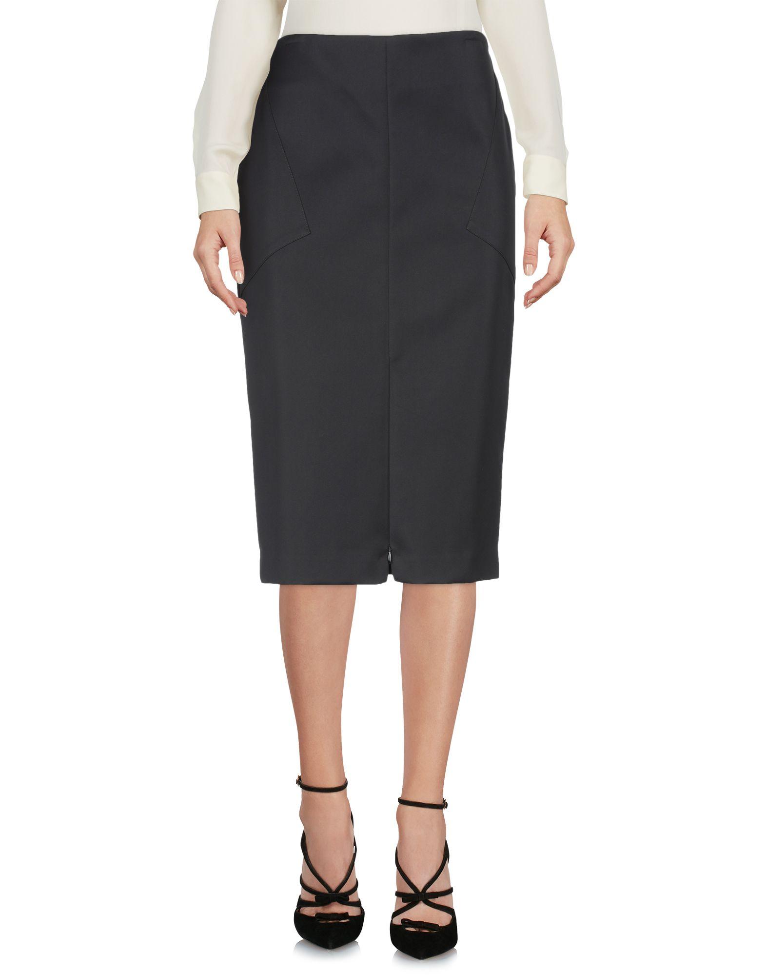 PROTAGONIST Midi Skirts in Black